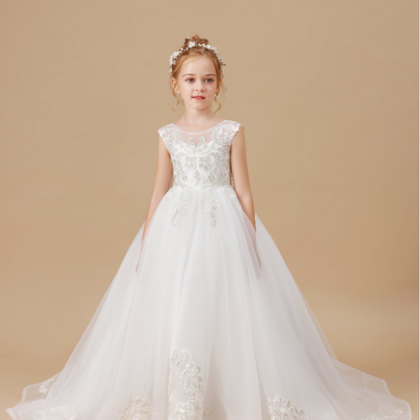 flower girl dresses,Elegant Flower Girls Dress Wedding Party Princess Dress Kids Clothes Lace Birthday Party Dress Children's Vestidos For 2-14T