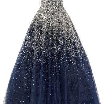 Gorgeous Prom Dress,Crystal Beaded Ball Gowns ,Prom Ball Gowns,Evening Dress ,Strapless Formal Dress,Celebrity Dress,Pageant Dress