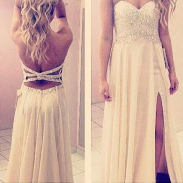 Charming Prom Dress,Chiffon Prom Dress,A-Line Prom Dress,Sweetheart Prom Dress,Sequined Prom Dress
