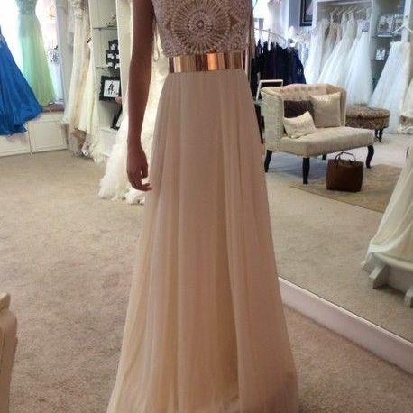 Custom Made A Line Round Neck Long Prom Dresses, Long Formal Dresses, Long Evening Dresses, Graduation Dress