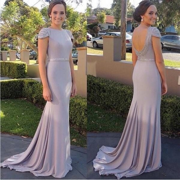Modest Prom Dress,Beaded Prom Dress,Backless Prom Dress,Fashion Prom Dress,Sexy Party Dress, New Style Evening Dress