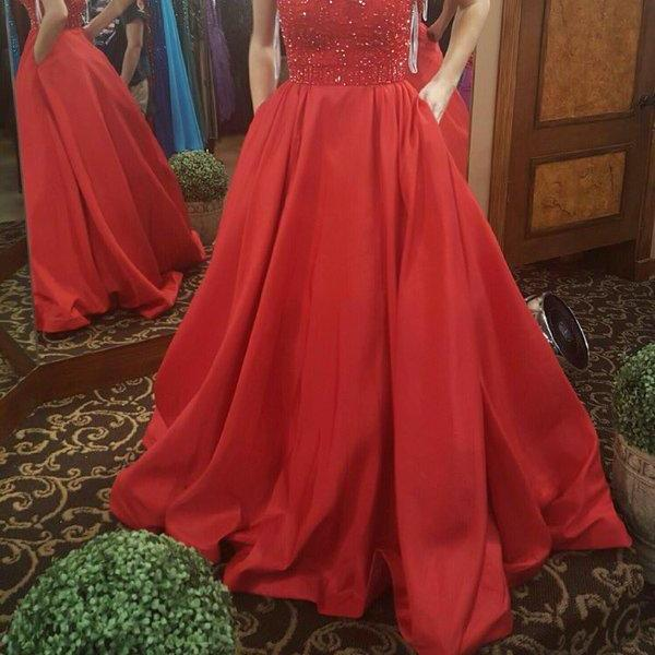 Off shoulder red satin beaded long evening dress,low back fashion dress,a line formal dress prom gown,sexy evening gowns