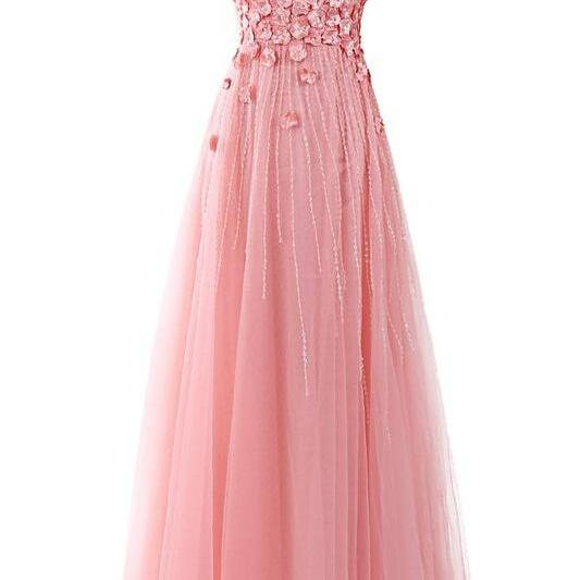 One Shoulder Beading Prom Dress,Long Prom Dresses,Charming Prom Dresses,Evening Dress, Prom Gowns, Formal Women Dress,prom dress